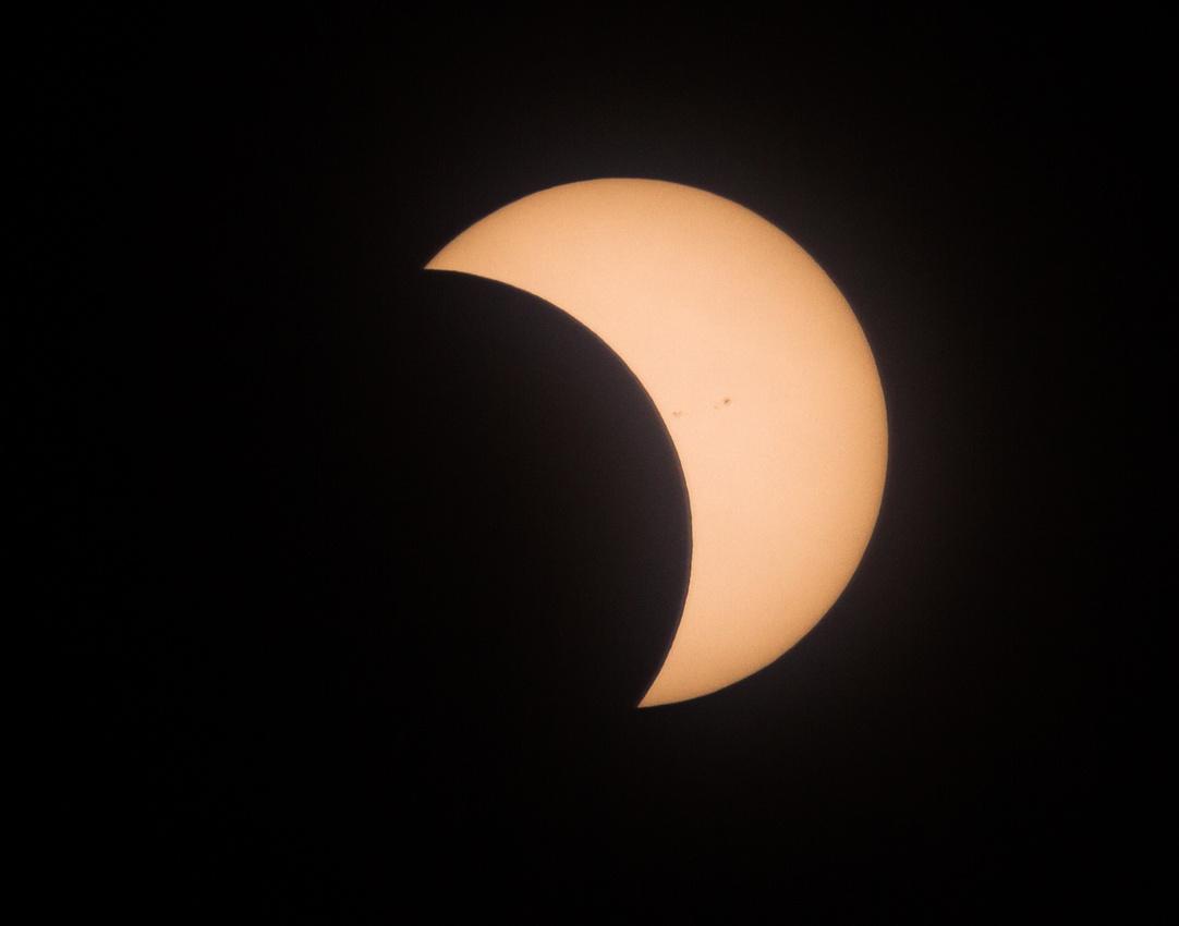 Solar Eclipse Over Bloomington Illinois