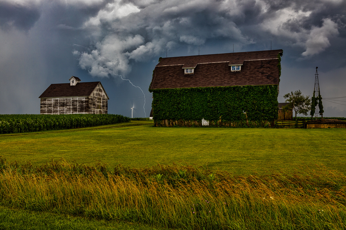 Barns in a Storm