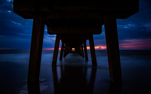 Under the Tybee Island Pier