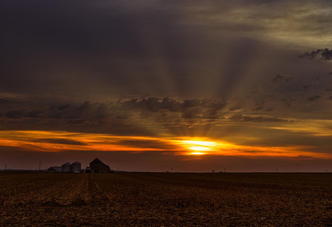 October Sunrise in Illinois