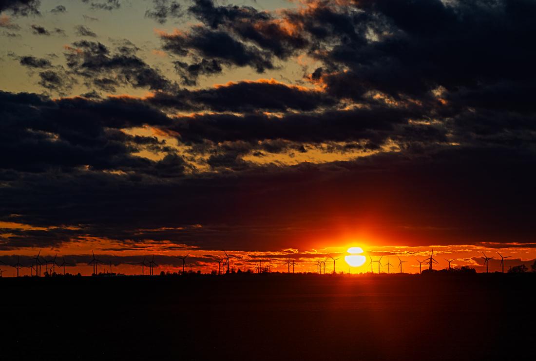 Illinois Spring Sunset