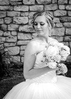 Bride Portrait B&W from J & E's Wedding