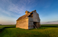 Old Barn Basking in a Sunset